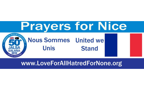 Condolence to Victims in Attack on Nice