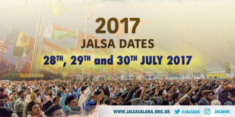 Jalsa Salana 2017 – 28 , 29 & 30 July