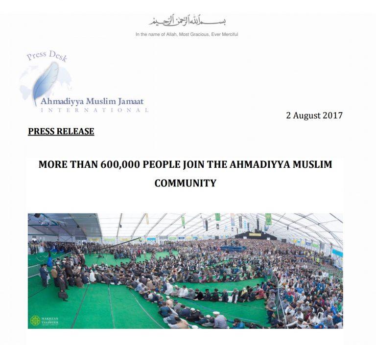 Press Release – Jalsa Salana UK 2017