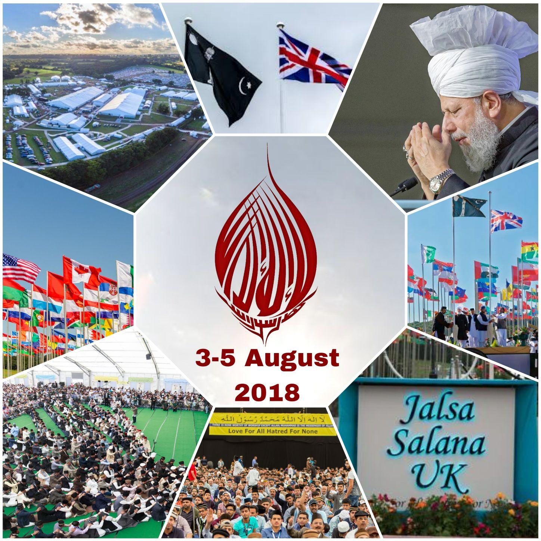 Jalsa Salana UK Dates 2018 , 3rd - 5th August 2018   Jalsa