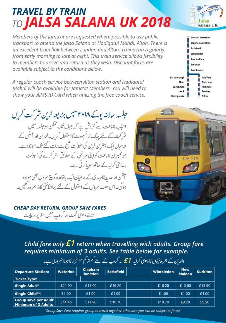Travel by train to Jasla Salana 2018