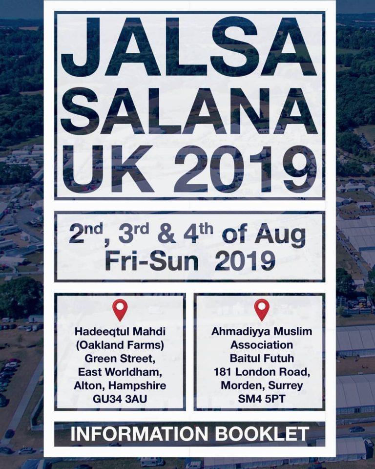 Information booklet for Jalsa UK 2019